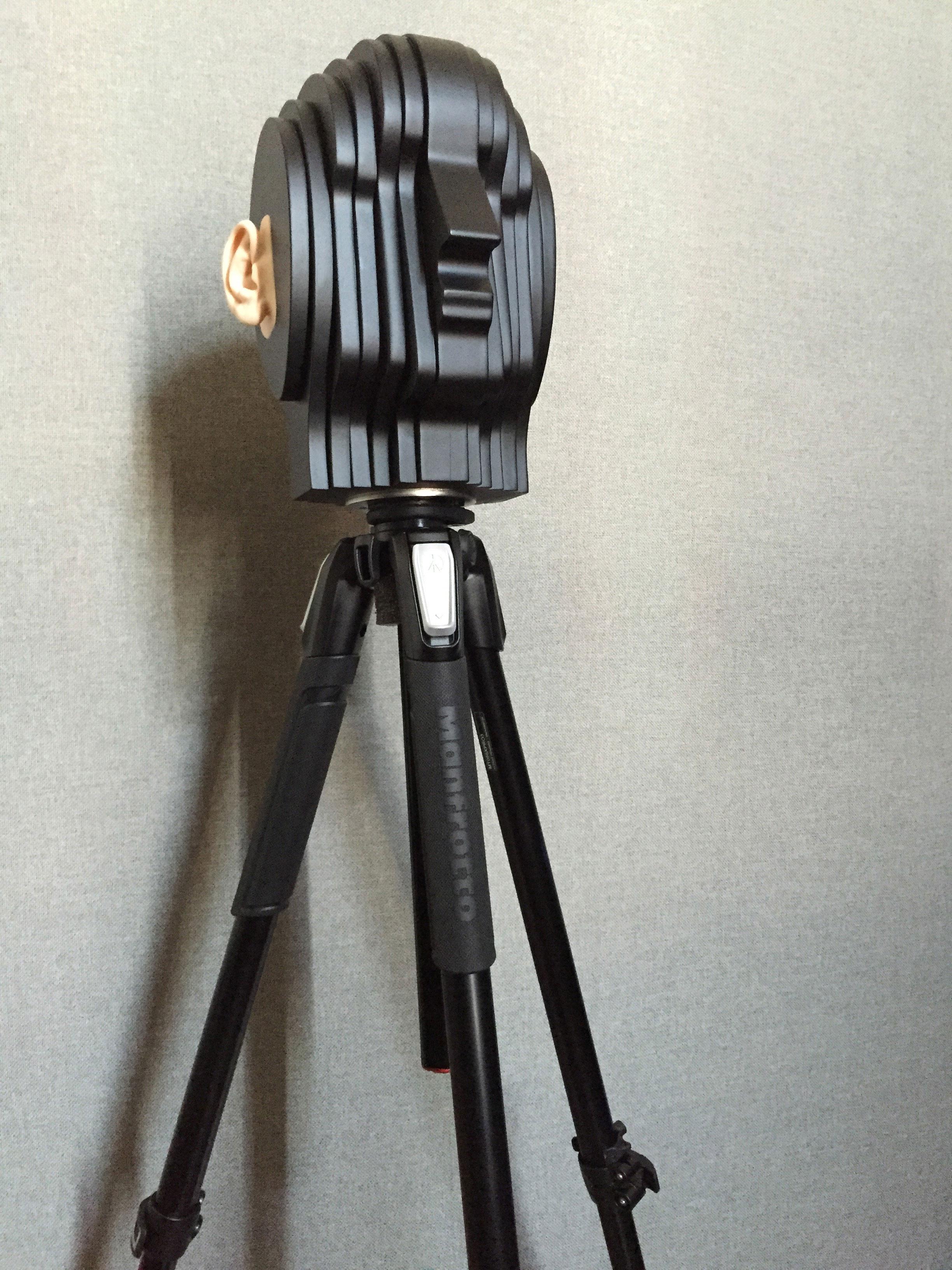 Binaural Recording Spatial Audio 3D Sound Dummy Head on Tripod