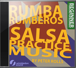 Salsa Practice Music by Peter Rolls available now on iTunes, Amazon and Spotify